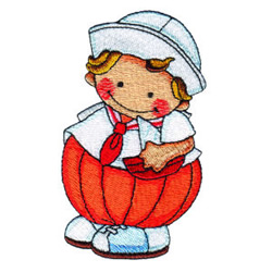 Pumpkin Patch Kid 7 embroidery design