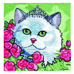 Princess Kitty embroidery design