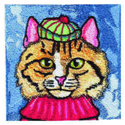 Tabby Cat embroidery design