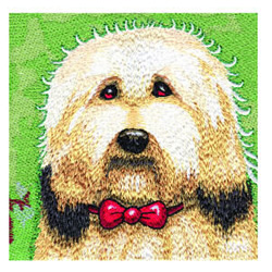 Sheepdog embroidery design