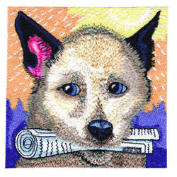 Play Fetch embroidery design