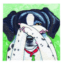Hide and Seek Dalmatian embroidery design