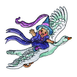 Mother Goose embroidery design