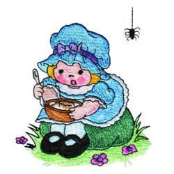 Little Miss Muffet embroidery design