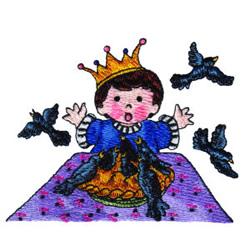 Blackbird Pie embroidery design