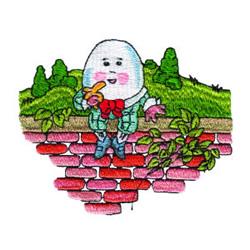 Humpty Dumpty embroidery design