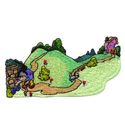 A Crooked Road embroidery design