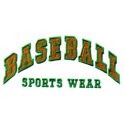 Baseball Sports Wear embroidery design