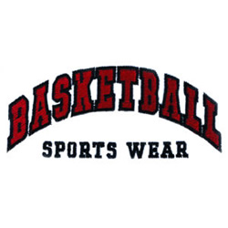 Basketball Sports Wear embroidery design