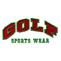 Golf Sports Wear embroidery design