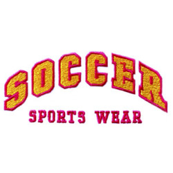 Soccer Sports Wear embroidery design