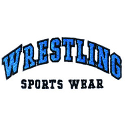 Wrestling Sports Wear embroidery design