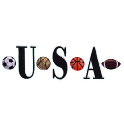 USA Sports embroidery design