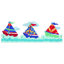 Sailboat Border embroidery design