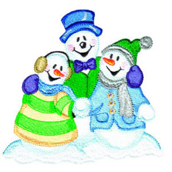 Snow Carolers embroidery design