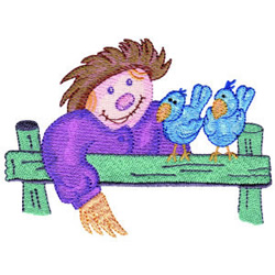 Scarecrow and Friends embroidery design