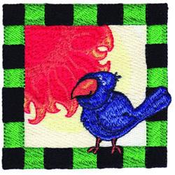 Bird Square embroidery design