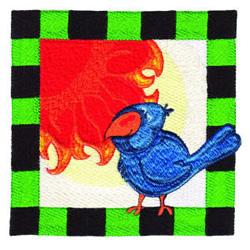 Bird Square 2 embroidery design