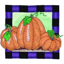 Pumpkin Square embroidery design