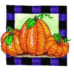 Pumpkin Square 2 embroidery design