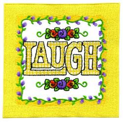 Laugh embroidery design