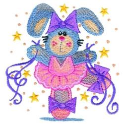 Ballerina Bunny embroidery design
