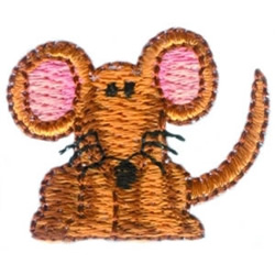 Brown Mouse embroidery design
