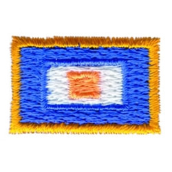 Colorful Rectangle embroidery design