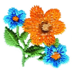 Colorful Flowers embroidery design