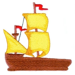 Wooden Ship embroidery design