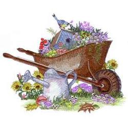 Country Wheelbarrow embroidery design