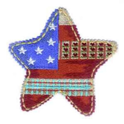 Americana Star embroidery design
