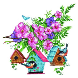 Hanging Birdhouses embroidery design