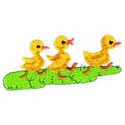 Baby Ducks embroidery design