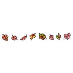 Autumn Leaves Border embroidery design
