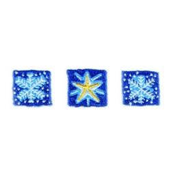 Snowflakes & Star Border embroidery design