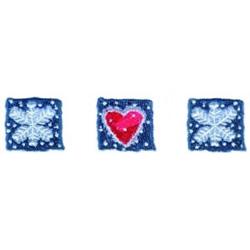 Snowflakes & Heart Border embroidery design