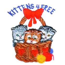 Kittens For Free embroidery design
