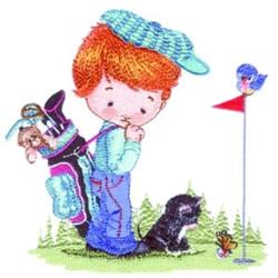 Golf Boy embroidery design
