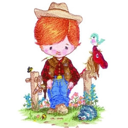 Ranch Boy embroidery design