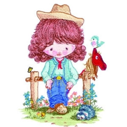 Ranch Girl embroidery design