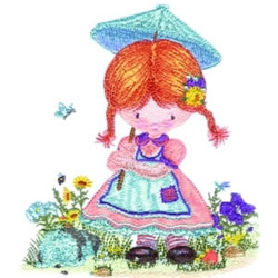 Parason Girl embroidery design