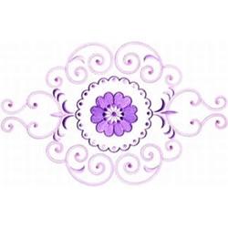Purple Floral Border embroidery design
