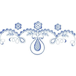 Blue Lace embroidery design