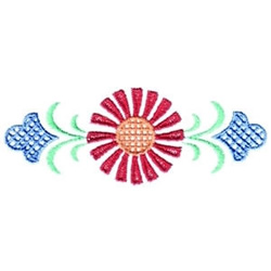 Single Flower Border embroidery design