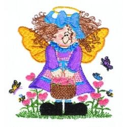 Garden Fairy embroidery design