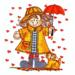 Raining Hearts embroidery design