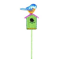 Bluebirds Home embroidery design
