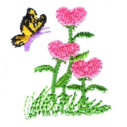 Yellow Butterfly embroidery design