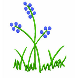 Bluebells embroidery design